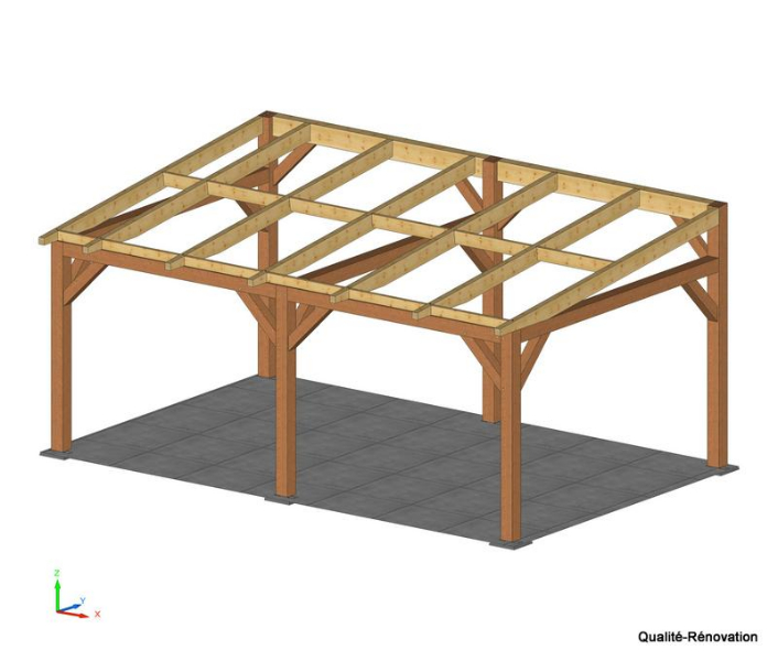 Model de charpente bois une pente obtenez des id es de design int ressantes en - Construire une charpente en bois 1 pente ...